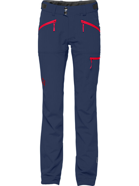 Norrøna Falketind Flex1 - Pantalones de Trekking Niños - azul